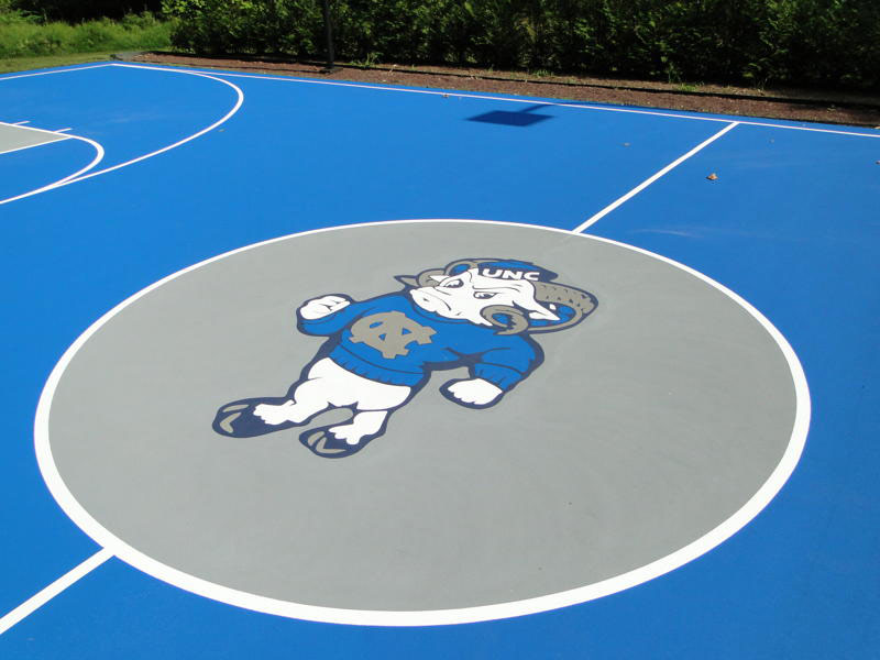 Custom Tarheal Basketball Court